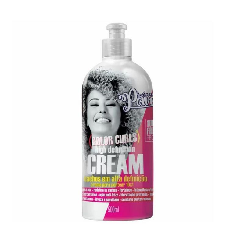 Creme para Pentear Soul Power Color Curls High Definition Cream 500ml