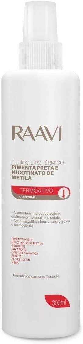 Fluído Lipotérmico Raavi Pimenta Preta 300ml