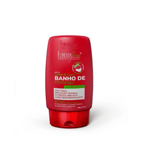 Leave In Forever Liss Banho De Verniz Morango 150g