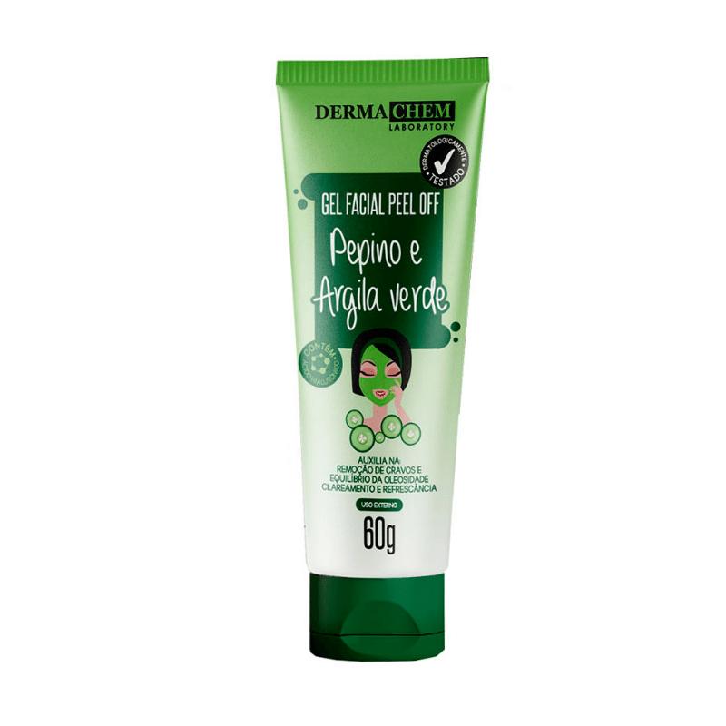 Gel Facial Dermachem Peel Off Pepino e Argila Verde  60g