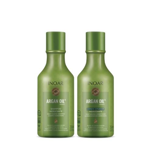 Kit Shampoo + Condicionador Inoar Duo Argan Oil System 250ml