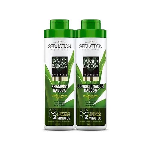 Kit Eico Seduction Amo Babosa Spécialité Shampoo + Condicionador 800ml