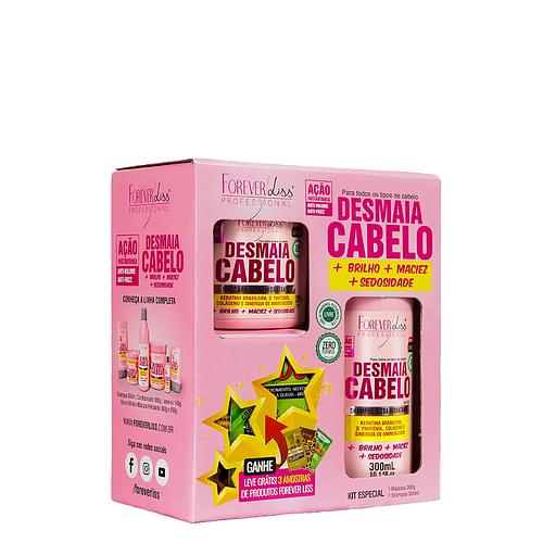 Kit Forever Liss Desmaia Cabelo com Shampoo 300ml e Máscara 200g