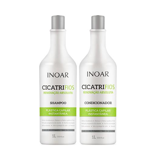 Kit Inoar CicatriFios Shampoo + Condicionador 1L