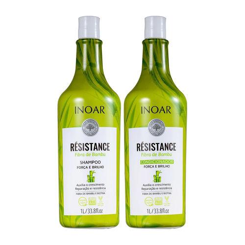 Kit Inoar Résistance Fibra de Bambu Shampoo + Condicionador 1L