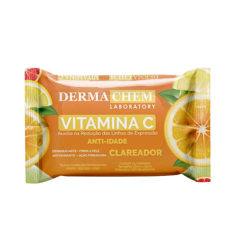 Lenço Demaquilante Dermachem Antidade Vitamina C Clareador
