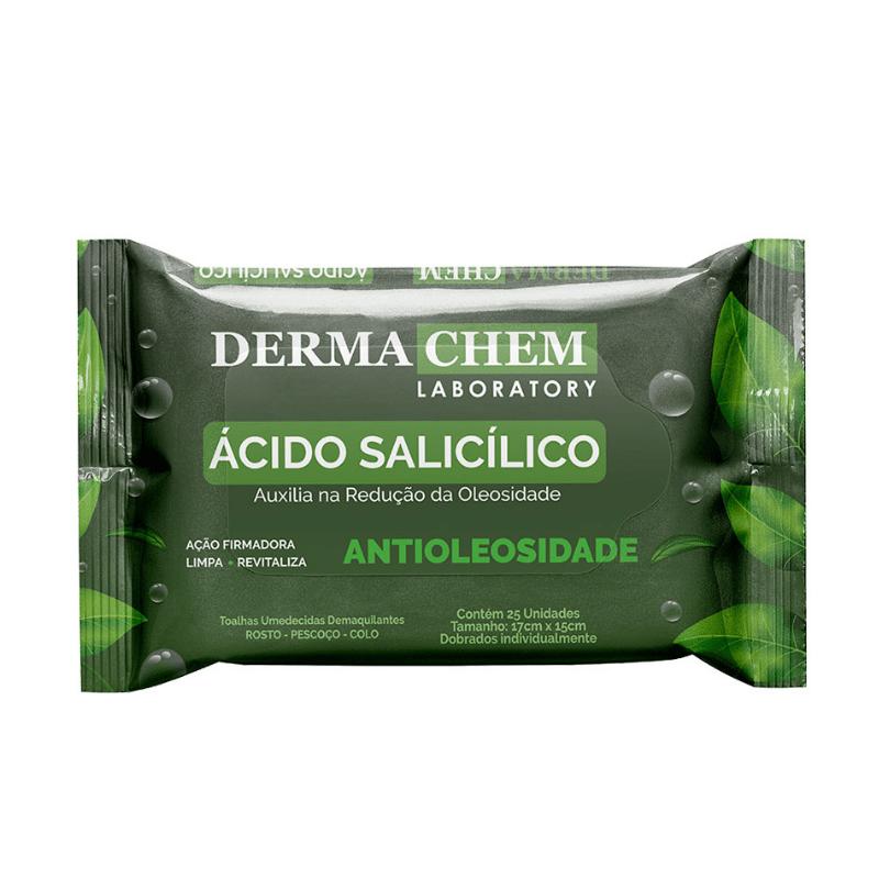 Lenço Demaquilante Dermachem Antioleosidade Ácido Salicílico