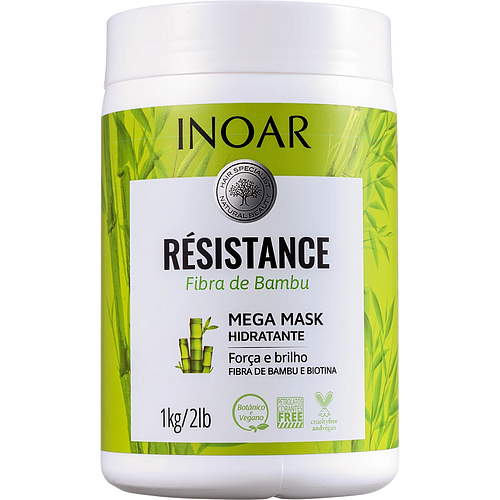 Máscara Capilar Inoar Résistance Fibra de Bambu 1Kg