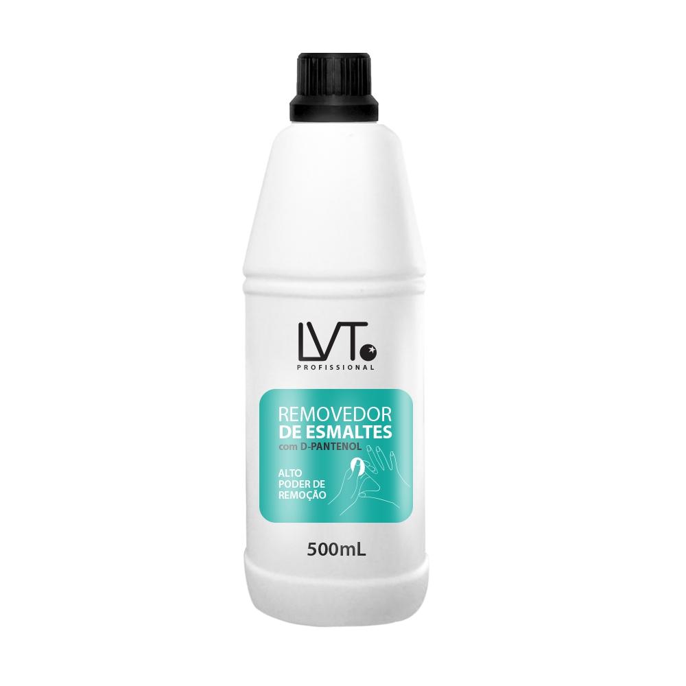 REMOVEDOR DE ESMALTE LVT  PROFISSIONAL DE 500 ML COM D-PANTENOL