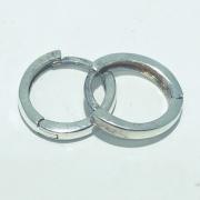 Brinco Prata 925 Seção Quadrada 12mm