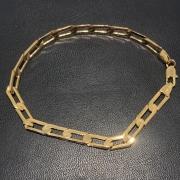 Pulseira Folheado Ouro 18k Elo Oval 22cm