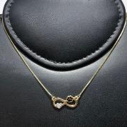 Corrente com Pingente Folheado Ouro 18k Infinito Coração e Pata