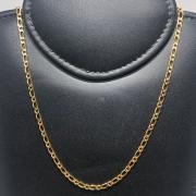 Corrente Folheado Ouro 18k 1x1 70cm