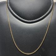 Corrente Folheado Ouro 18k Bolinha 70cm