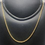 Corrente Folheado Ouro 18k Cordão Baiano 45cm