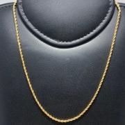 Corrente Folheado Ouro 18k Cordão Baiano 60cm