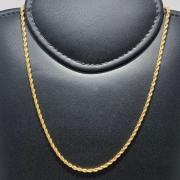 Corrente Folheado Ouro 18k Cordão Baiano 80cm