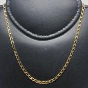 Corrente Folheado Ouro 18k Elo Oval 60cm
