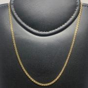 Corrente Folheado Ouro 18k Grumet 80cm