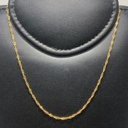 Corrente Folheado Ouro 18k Singapura 40cm