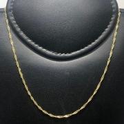Corrente Folheado Ouro 18k Singapura 45cm
