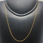 Corrente Folheado Ouro 18k Singapura 70cm