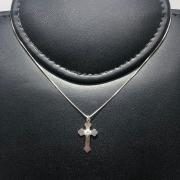 Corrente Prata 925 Cruz Zircônia Centro