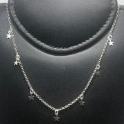 Corrente Prata 925 Estilo Chocker com Estrelas