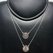 Escapulário Prata 925 Medalha de São Bento