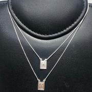 Escapulário Prata 925 Sagrado Coração e Nossa Senhora Moldura