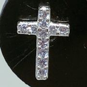 Piercing Tragus Prata 925 Cruz Zircônia