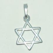 Pingente Prata 925 Medalha Estrela de Davi