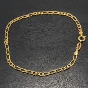 Pulseira Folheado Ouro 18k 3x3 21cm