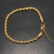 Pulseira Folheado Ouro 18k Cordão Baiano 21cm