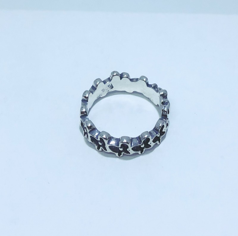 Anel Prata 925 Estilo Pandora Borboletas Bali.
