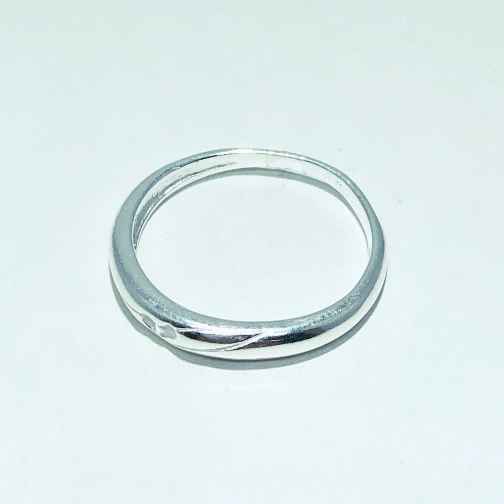 Anel Prata 925 Mini Coração Vazado