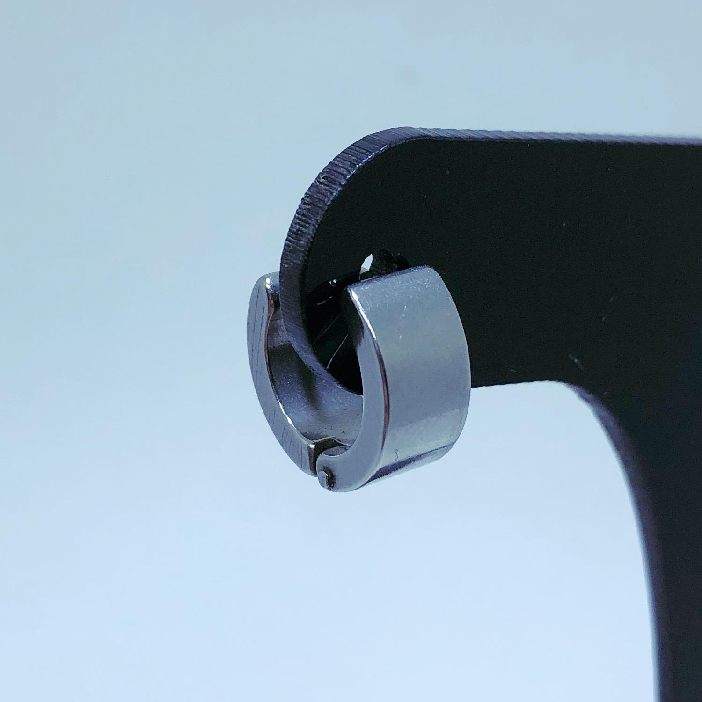 Brinco Aço Inox Argola Larga 6mm