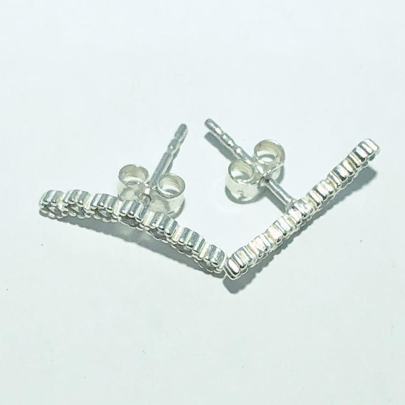 Brinco Prata 925 Arco Cravejado Zircônia