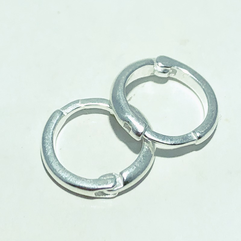 Brinco Prata 925 Argola Liso 9 mm