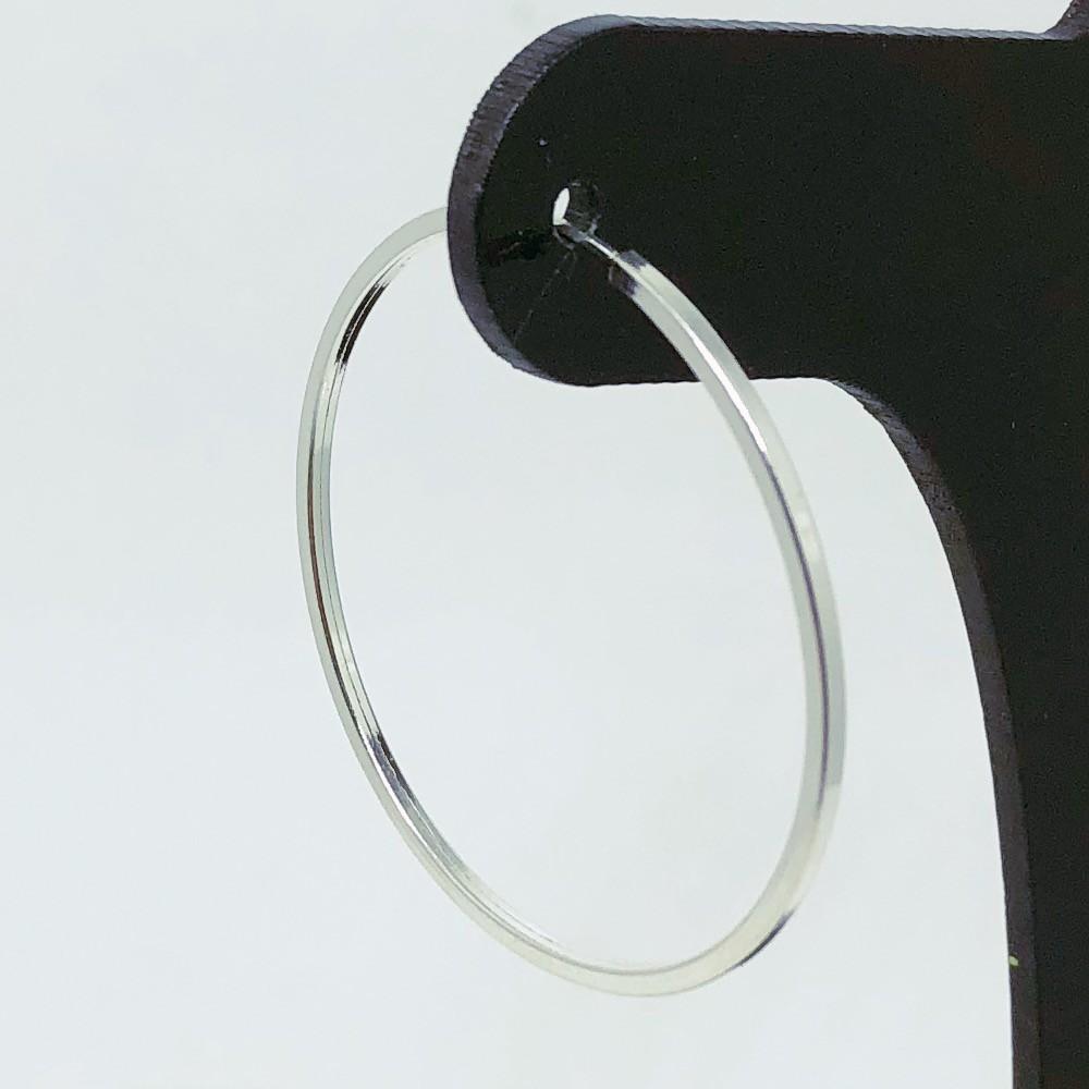 Brinco Prata 925 Argola Perfil Quadrado 35mm