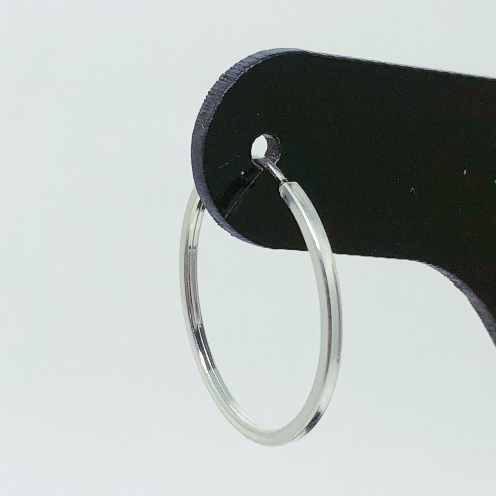 Brinco Prata 925 Argola Perfil Quadrado - 22mm