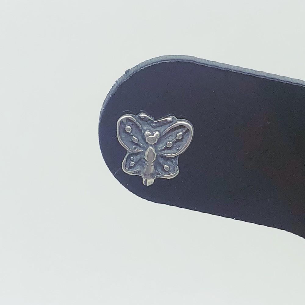 Brinco Prata 925 Borboleta Bali