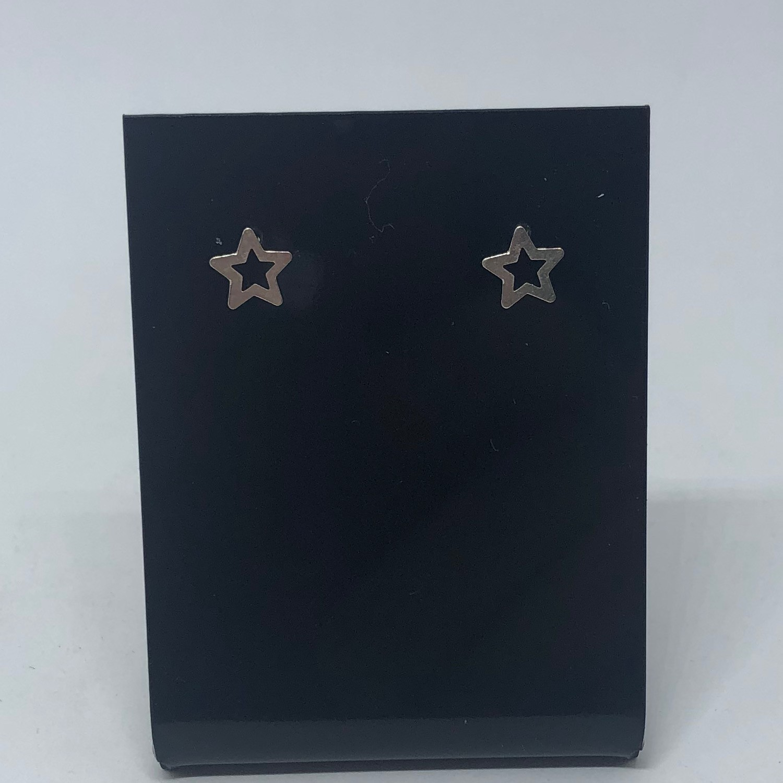 Brinco Prata 925 Estrela Vazado