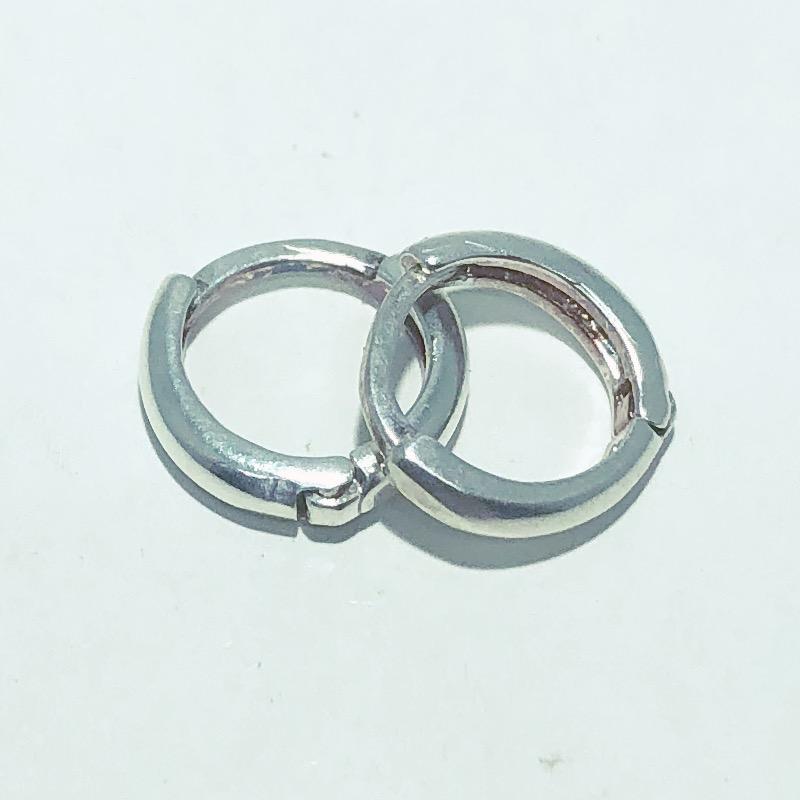 Brinco Prata 925 Seção Redonda 10mm
