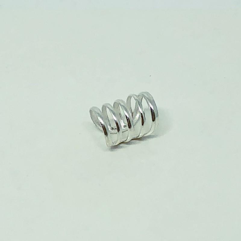 Piercing Prata 925 Pressão Lisa 5 Listras
