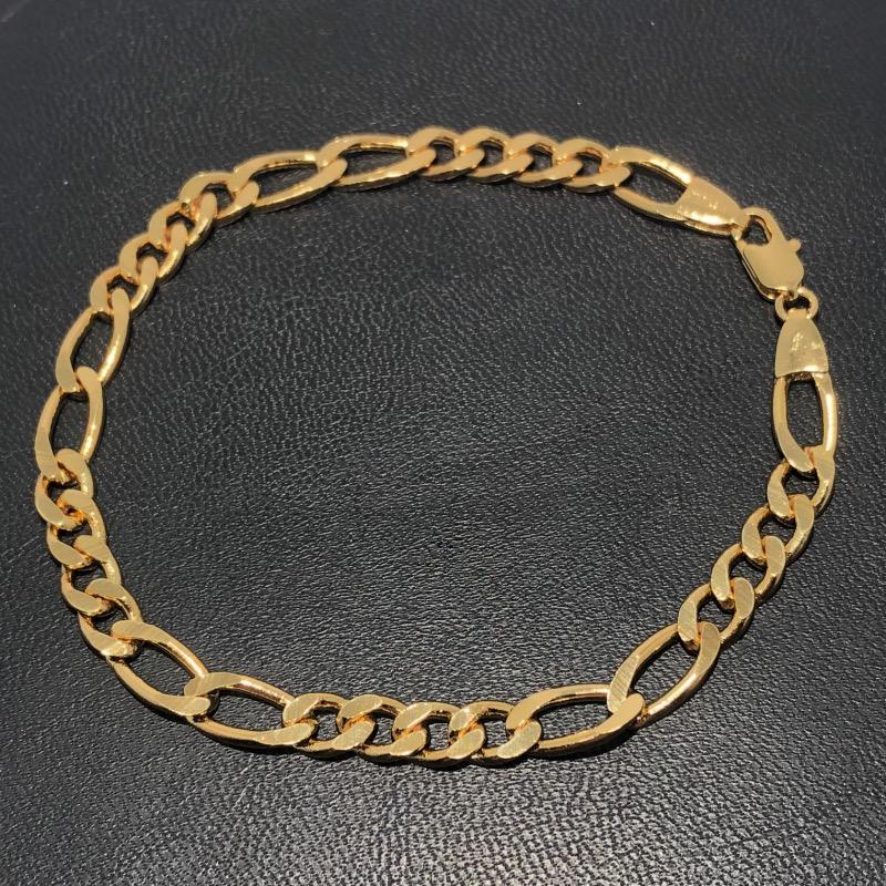 Pulseira Folheado Ouro 18k 4x2 22cm