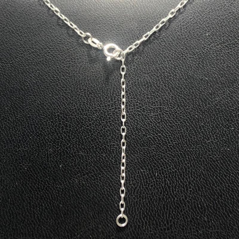 Corrente Em Prata 925 Cartier Pingentes Zircônia
