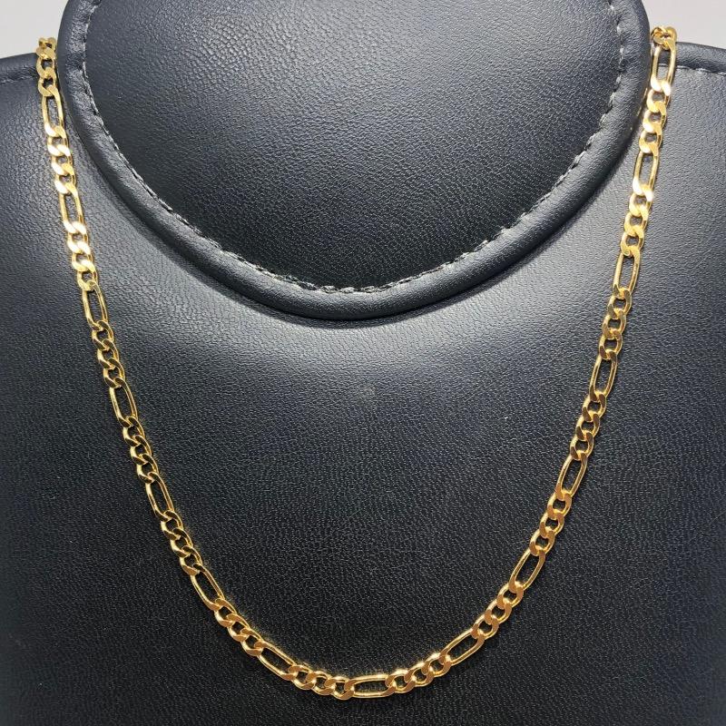 Corrente Folheado Ouro 18k 3x1 60cm
