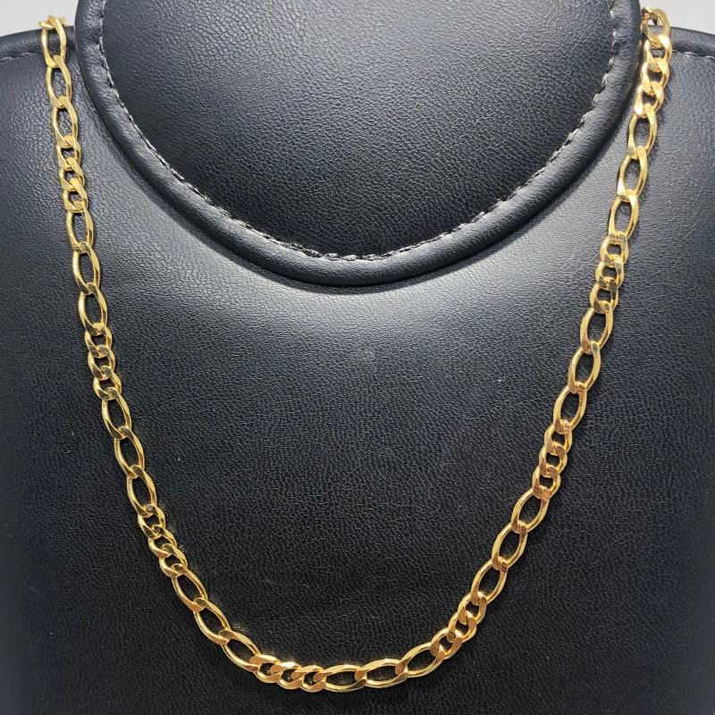 Corrente Folheado Ouro 18k 3x3 60cm