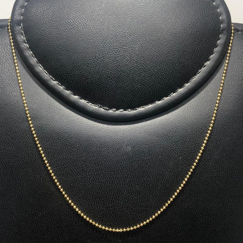 Corrente Folheado Ouro 18k Bolinha 45cm